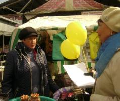 Волонтеры напомнили продавцам и покупателям их права