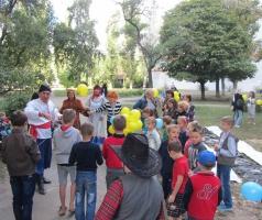 Подарок рубежанам от волонтеров БФ Александра Романовского