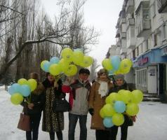 Волонтеры Благотворительного фонда Александра Романовского поздравили жителей Рубежного с Татьяниным днем