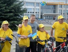 Волонтеры БФ Александра Романовского приняли участие в велопробеге